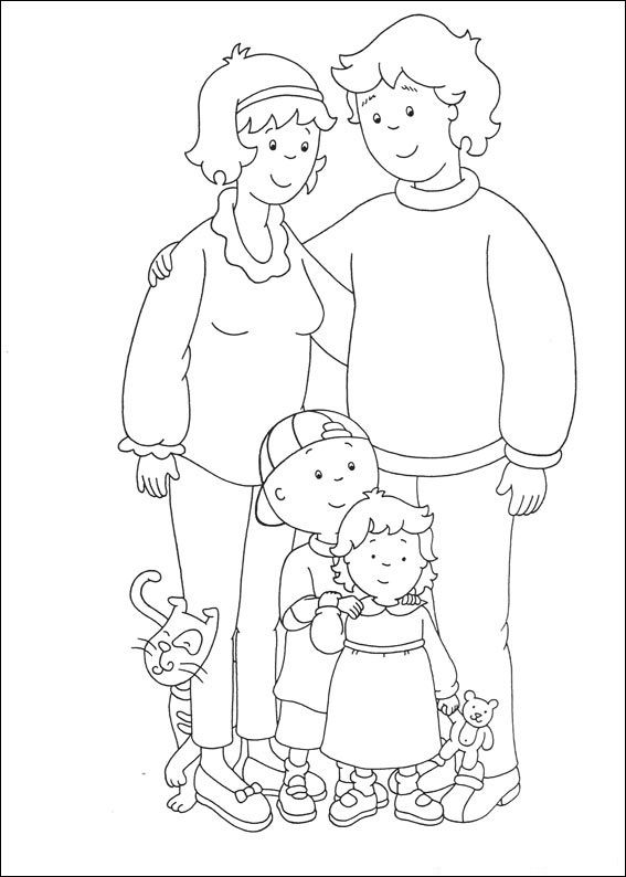Caillou Coloring Pages Best Coloring Pages For Kids Cartoon Coloring Pages Coloring Pages Family Coloring Pages