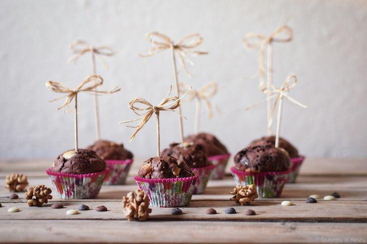 Laskominy od Maryny: Čokoládové muffiny s ořechy