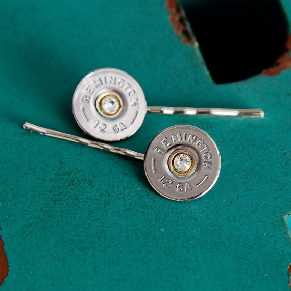 Bullet Jewelry  Bullet Bobby Pins w/Silver by RicochetRounds, $13.95