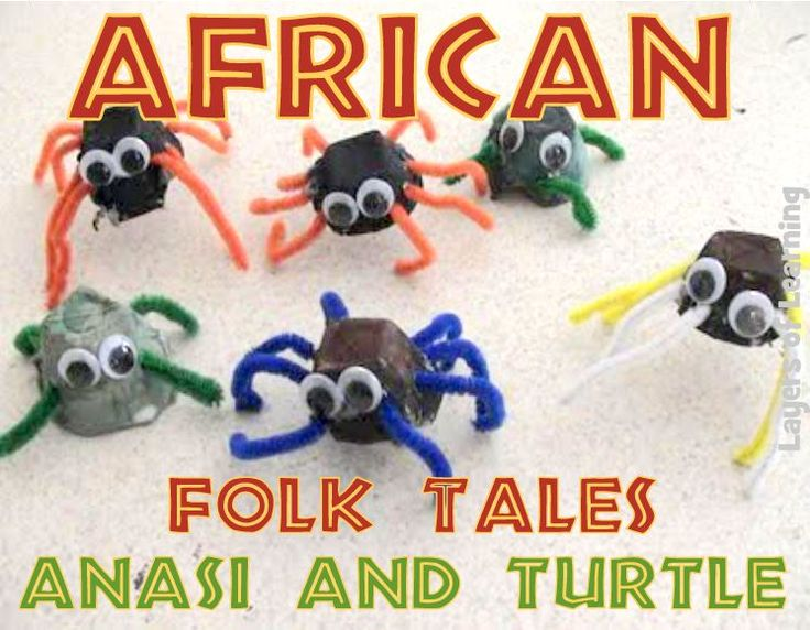Anansi spider craft, african folk tales for kids