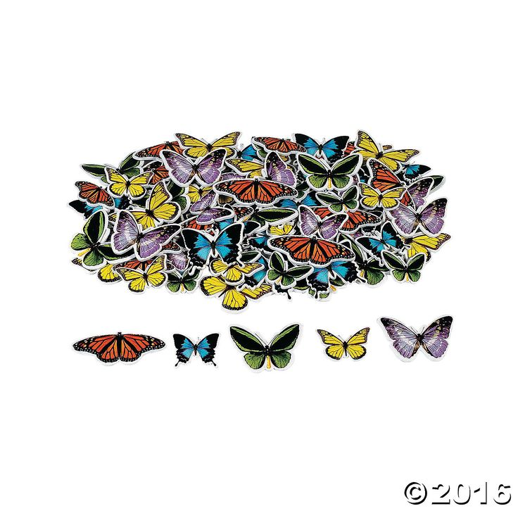 Realistic Butterfly Adhesive Shapes. Just peel and stick to let a beautiful…