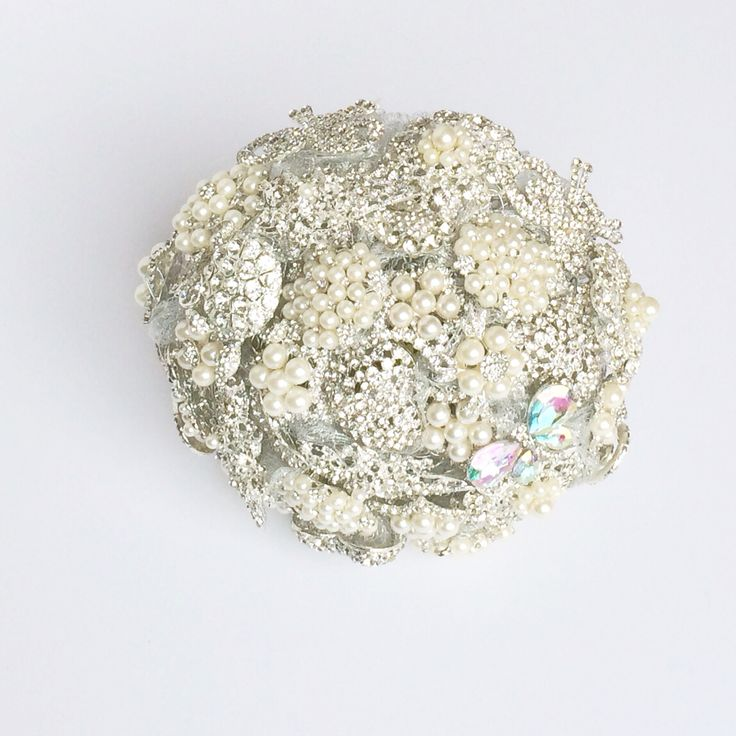 Silver Brooch Bouquet by Florio Designs