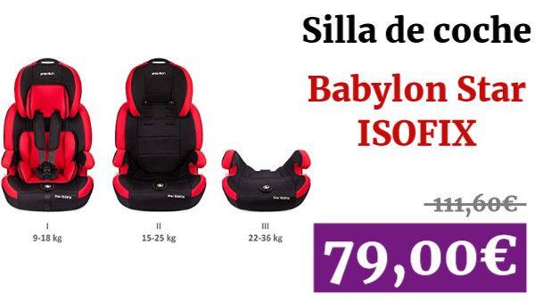 Babylon Star Isofix Silla De Coche Para Ninos 9 36 Kg Grupo 1 2 3