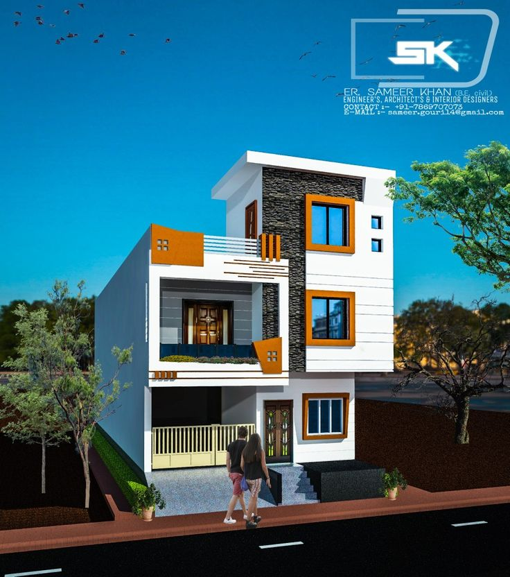 Home Design Ideas Elevation: Introducing Modern House Elevation Design In 22' Front G+1