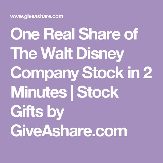 One Real Share of The Walt Disney Company Stock in 2 Minutes | Stock Gifts by GiveAshare.com