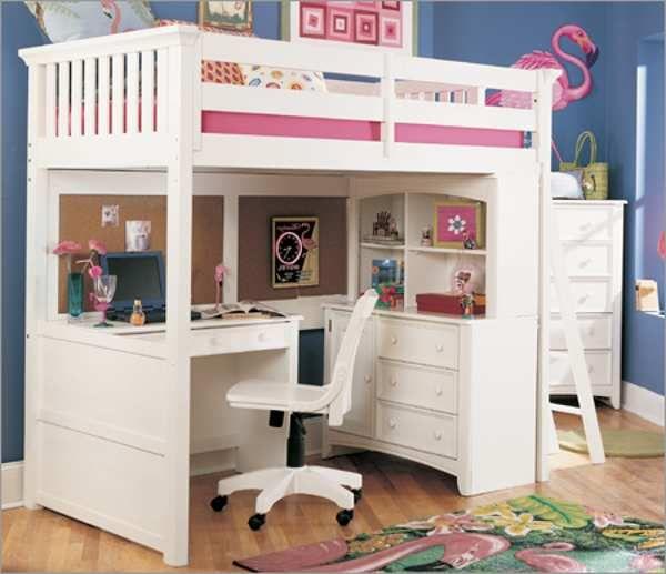 bunk bed desk under | Free Reference Images