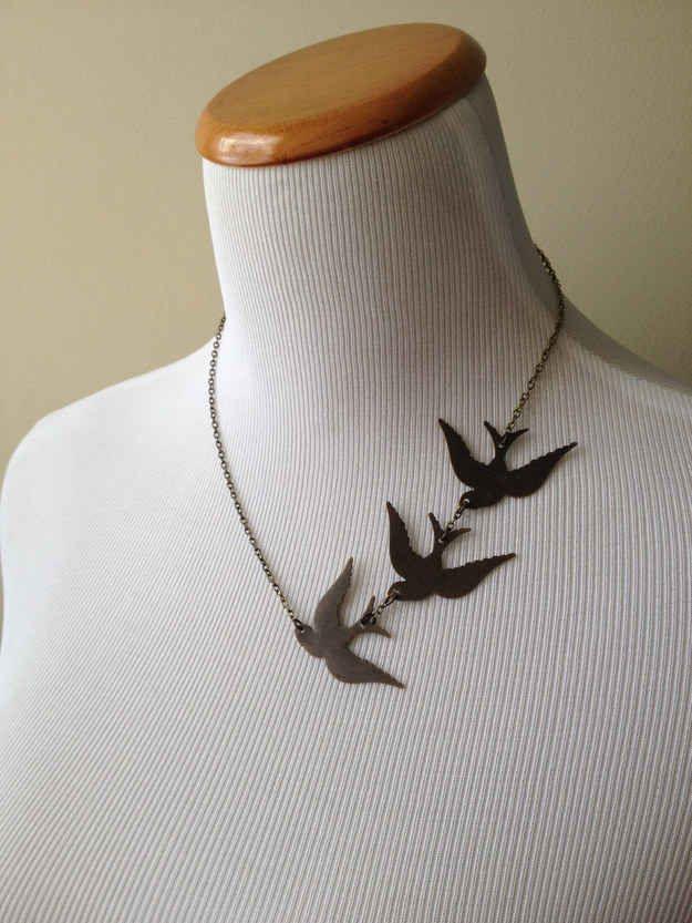 Divergent necklace ($32).