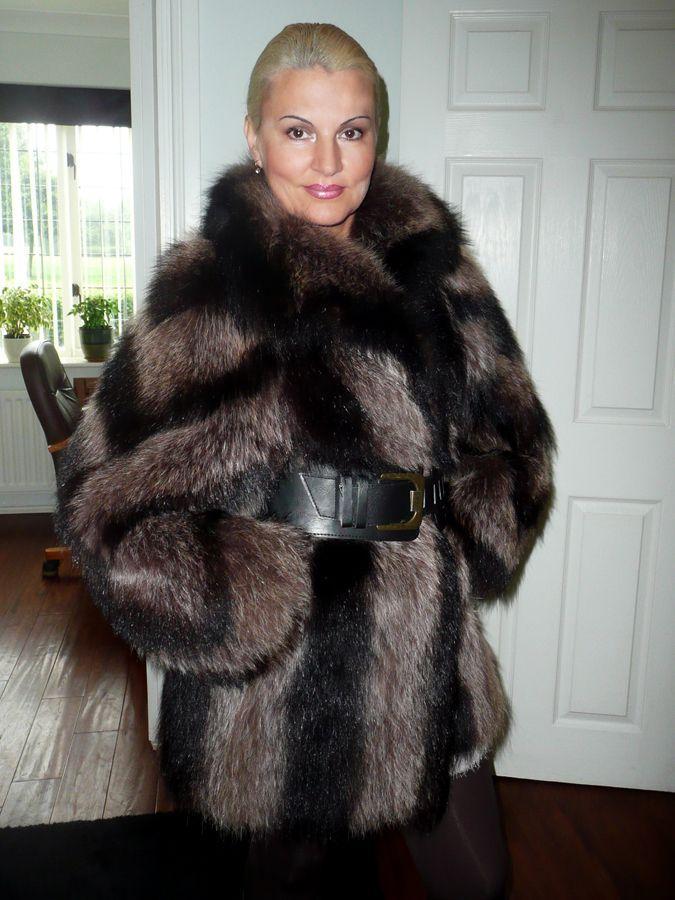 Mature in fur coat