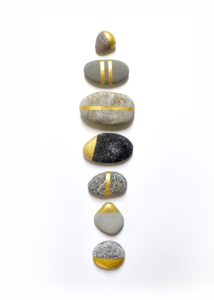 How To | Gold Painted Rocks. How To paint your summer rock collection gold. By Swell Made Co.