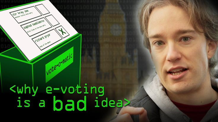 Voting is centuries old, why can't we move with the times and use our phones, tablets and computers? Tom Scott lays out why e-voting is such a bad idea. More...