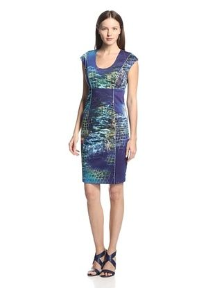 57% OFF Rachel Roy Women's Abstract Print Sheath Dress (Sea Multi)