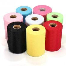 "6 ""x 300'' kleurrijke tissue tulle roll spool craft wedding party decor(China (Mainland))"