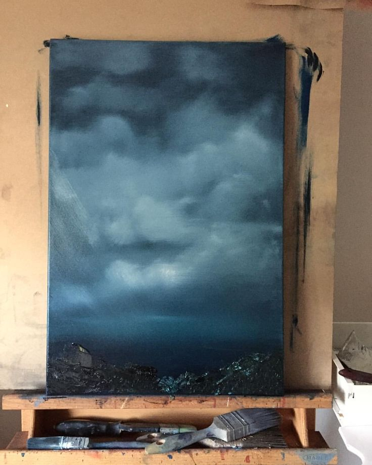 #sineadlawless #storm #oilpainting #skyscape #art