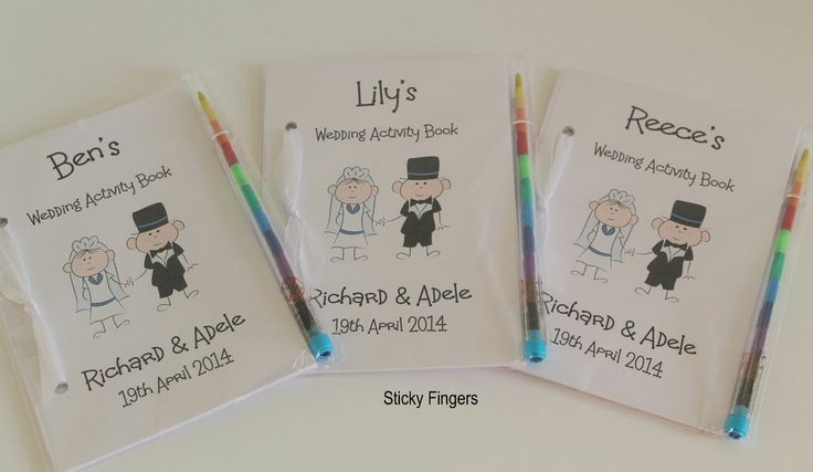 Childrens Personalised Wedding Activity Book Favour Gift Party Bag Pack