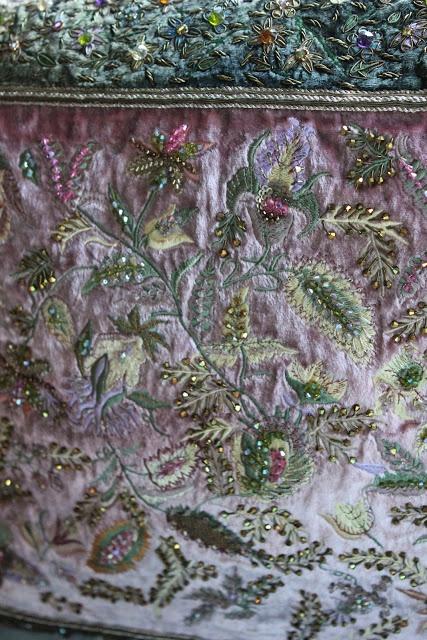 Hand dyed velvet pillow via Romancing the Home