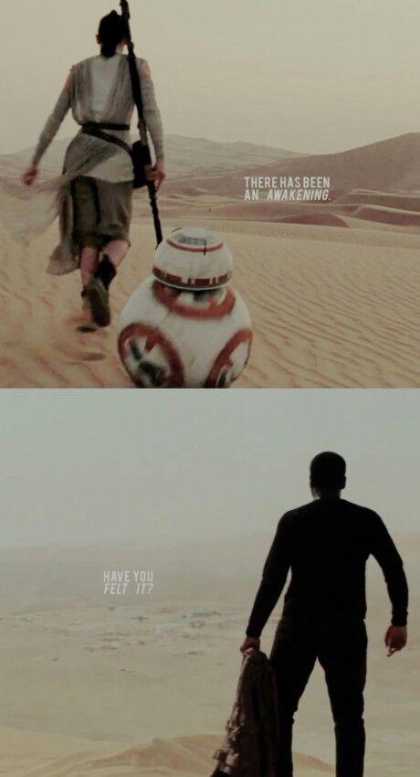 Rey and Finn tumblr #starwars #forceawakens #tfa
