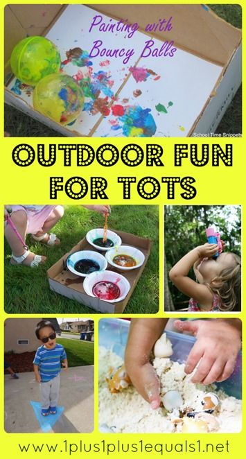 Outdoor Fun for Tots ~ A #TotSchool Gathering Place Collection
