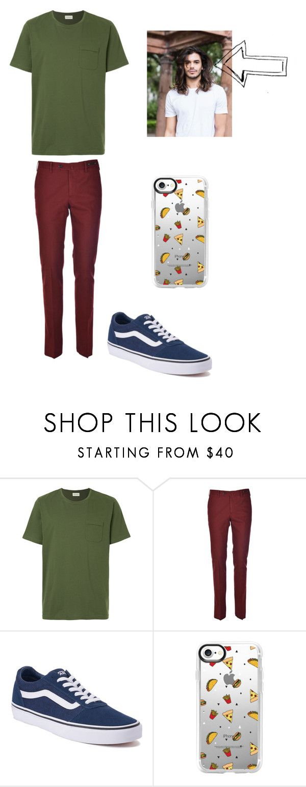 """Shaggy rogers"" by darkimoo ❤ liked on Polyvore featuring Oliver Spencer, PT01 Pantaloni Torino, Vans, Casetify, men's fashion and menswear"