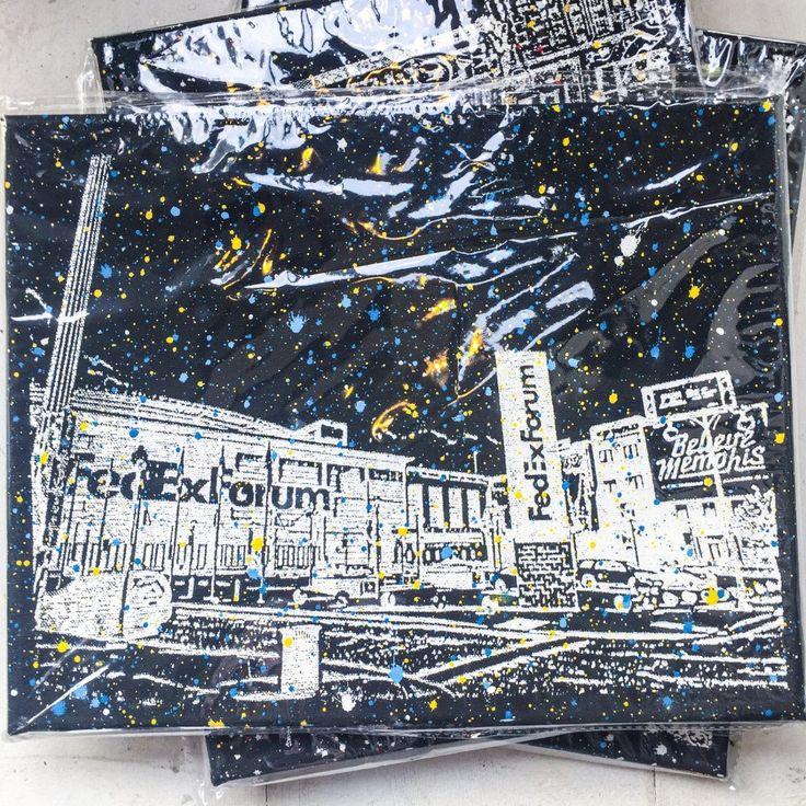 FedEx Forum in Memphis, Tennessee on Canvas, Art by Adam Exelbierd