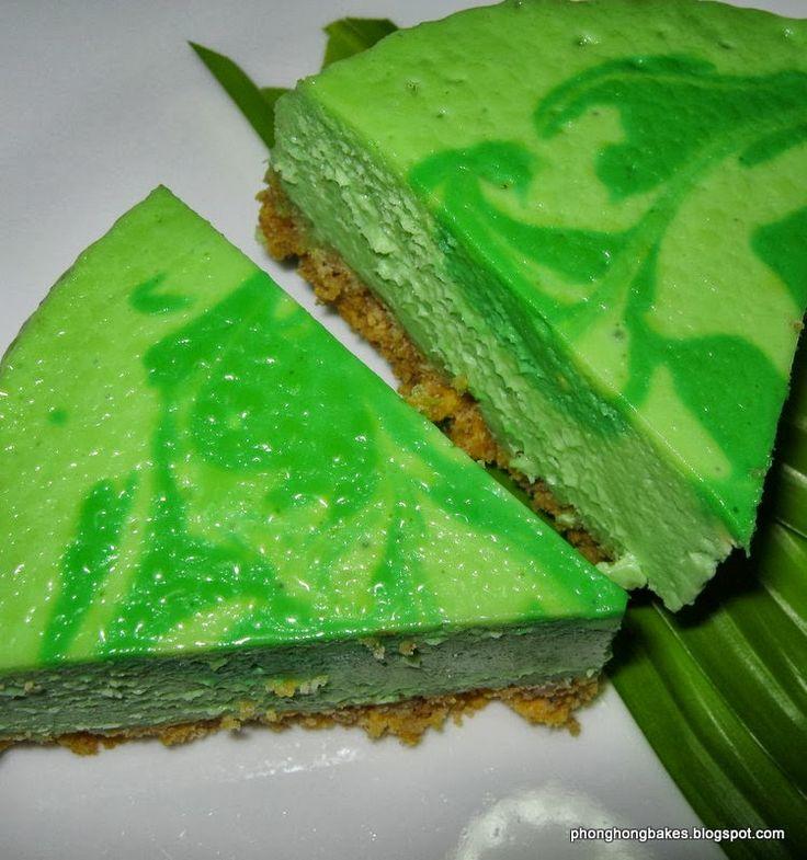 Phong Hong Bakes and Cooks!: Coconut Pandan Cheesecake