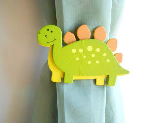Dinosaur Curtain Tie Backs Dinosaur Nursery by TonyaandJoshua, $14.00