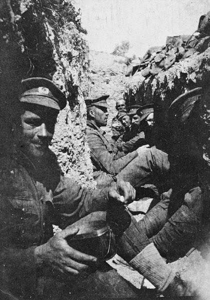 A trench in the Gallipoli campaign, 1915.