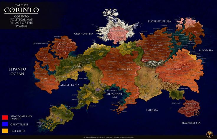 (TALES OF CORINTO) CORINTO POLITICAL MAP by SSWORKSHOP