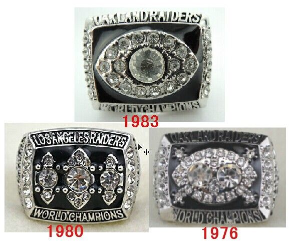 Free shipping 1976 1980 1983 Oakland Raiders Super Bowl replica championship rings 3pcs together size 11 #Affiliate
