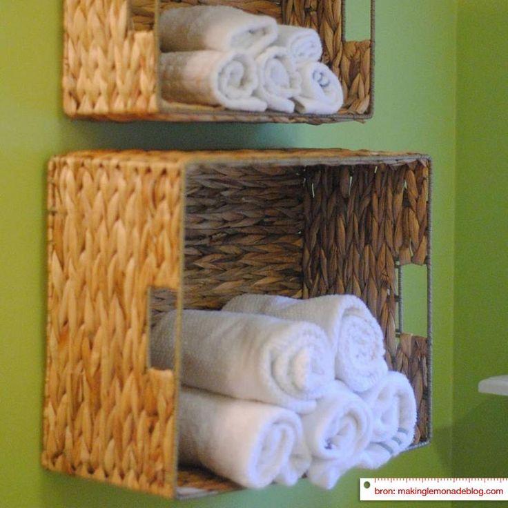 Handig en mooi handdoekjes opbergen