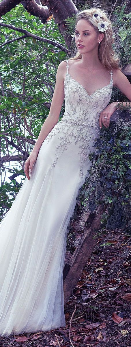 Wedding Dress by Maggie Sottero 2016 Fall/Winter Collection - Andrea | #maggiesottero #maggiebride