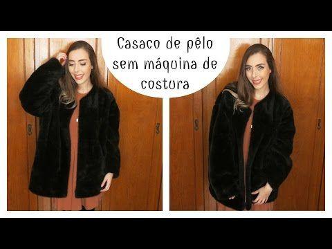 DIY CASACO DE PÊLO SEM MÁQUINA DE COSTURA | MUITO FÁCIL