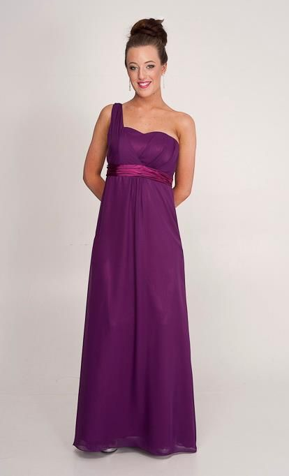 Sonja: One shoulder dress. Ball gowns and bridesmaid dresses in Perth.