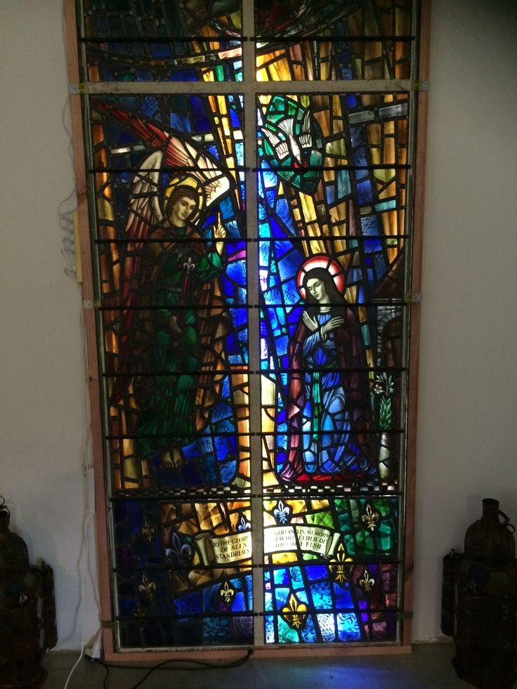 Stunning Stained Glass window called announciation