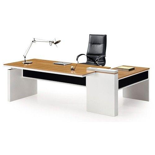 Harvard Executive Desk - White/Natural