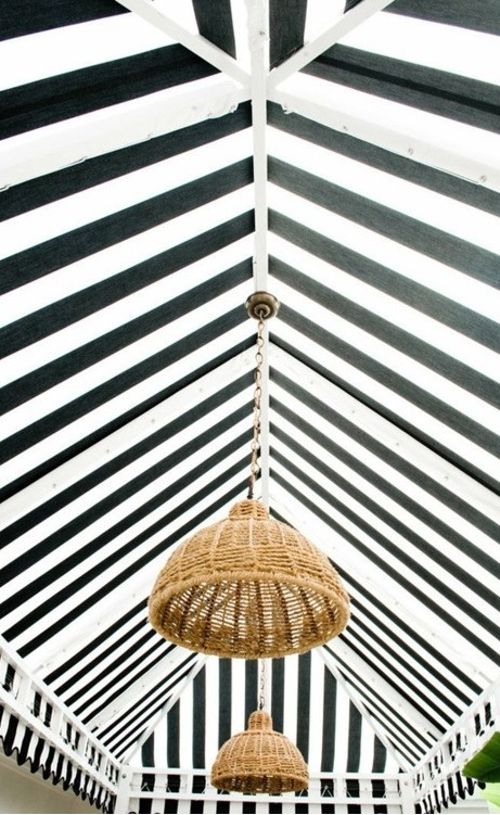 striped ceiling style
