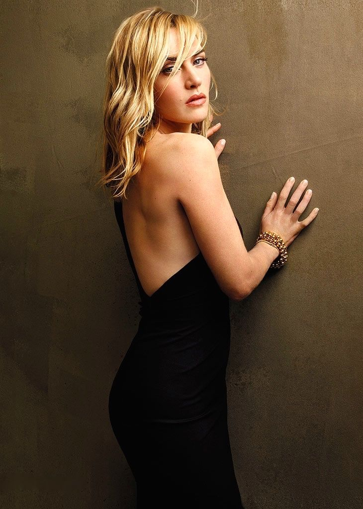 Kate Winslet in a backless little black dress