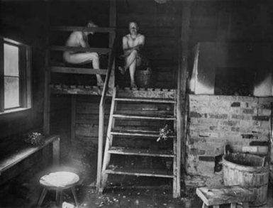 Sauna in the old.