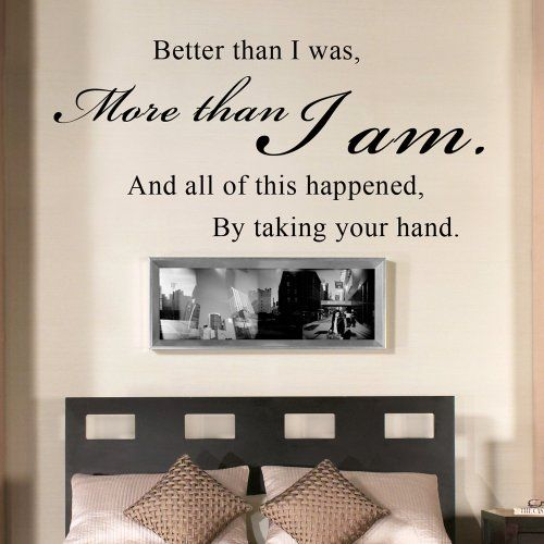 Wall Decal Vinyl Sayings Bedroom Decor