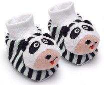 Pair of Panda Baby Booties Foot Rattles