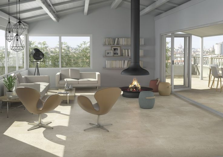 ARCANA Tiles | Tortona Beige 60x60 cm. | Living Room Inspiration #interiordesign #Design