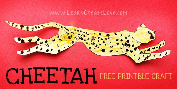 Cheetah Printable Craft | LearnCreateLove.com