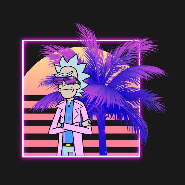 Retrowave Rick Rick And Morty T Shirt Teepublic Japanese Art Rick And Morty Art