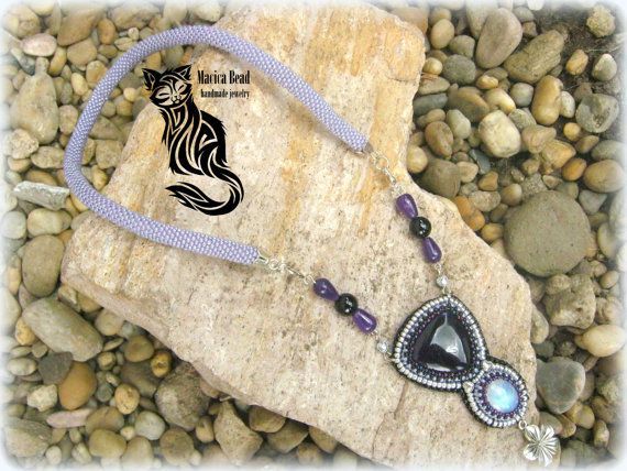 Fullmoon necklace by Macicabeadjewelry on Etsy
