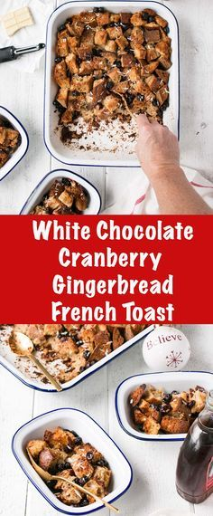 This White Chocolate Cranberry Gingerbread French Toast makes your house smell like Christmas and your tummies all warm and fuzzy too! #breakfast #hoidays
