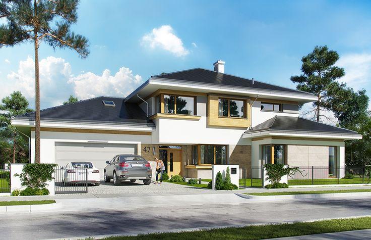 Projekt domu Spokojny zakątek - wizualizacja frontu 3