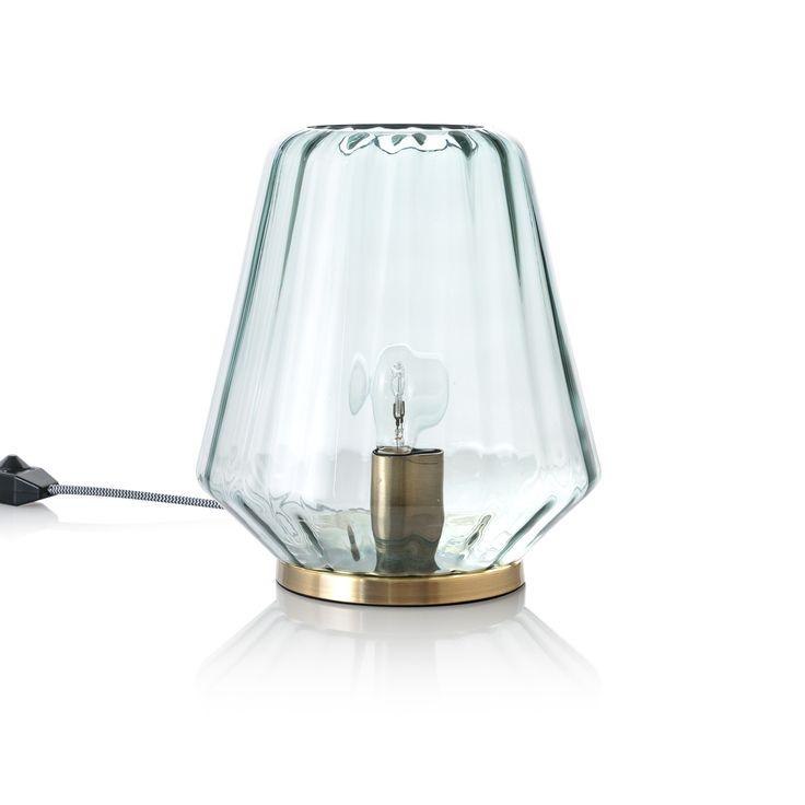Blue Onda Table Lamp | Oliver Bonas