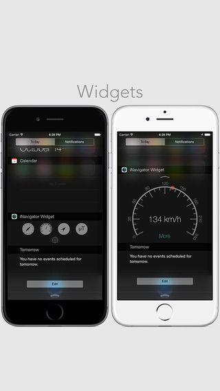 iNavigator + Widget Alfonso Piazza 수평계, 현 위치, 소음 등 여러 편리한 기능들을 위젯에 넣어 바로 활용가능