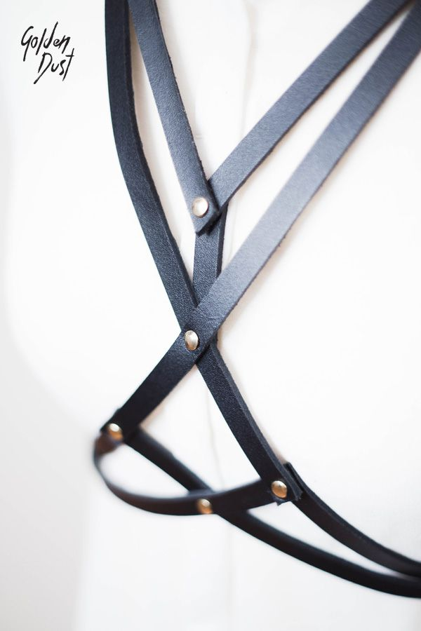† .: Leather harness on the body. Outstanding and charismatic accessory, making each of us more expressive, unique and sexy! It works perfectly in many stylizations. We wear it on bare skin, on top, blouse, dress, shirt.. It emphasizes the shape of waist and hips. Everything is hand-made from genuine leather