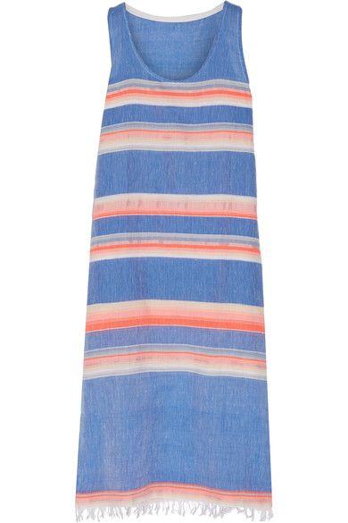 LemLem - Elsi Striped Cotton-blend Gauze Dress - Azure - medium