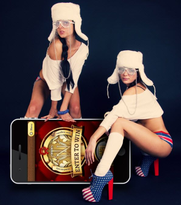 Mobile casino games poster design